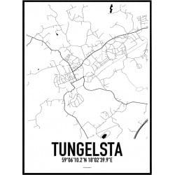 Tungelsta Karta Poster