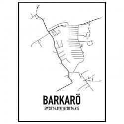 Barkarö Karta Poster