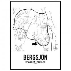 Bergsjön Karta Poster