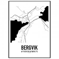 Bergvik Karta Poster