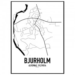 Bjurholm Karta Poster