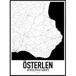 Österlen Karta Poster