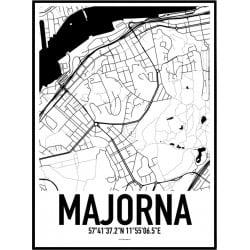 Majorna Karta Poster