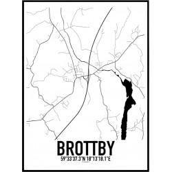 Brottby Karta Poster