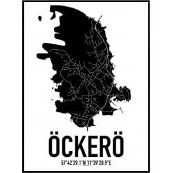 Karta Öckerö Poster