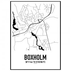 Boxholm Karta Poster