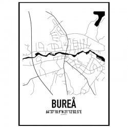 Bureå Karta Poster