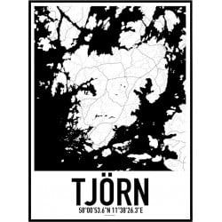 Tjörn Karta Poster