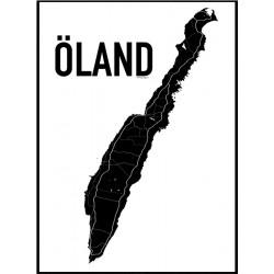 Karta Öland Poster