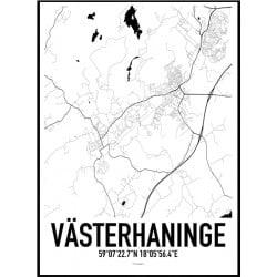 Västerhaninge Karta