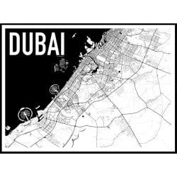 Dubai Karta Poster