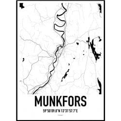 Munkfors Karta Poster