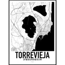 Torrevieja Karta Poster
