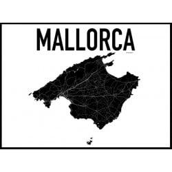 Mallorca Karta Poster