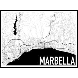 Marbella Karta Poster