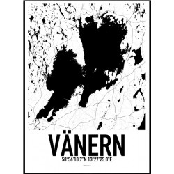 Vänern Karta Poster