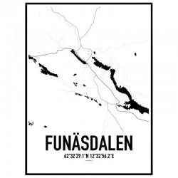 Funäsdalen Karta Poster