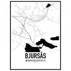 Bjursås Karta Poster