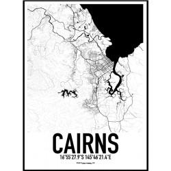 Cairns Karta Poster