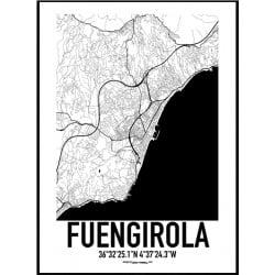 Fuengirola Karta Poster