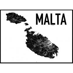 Malta Karta Poster