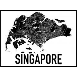 Singapore Karta Poster