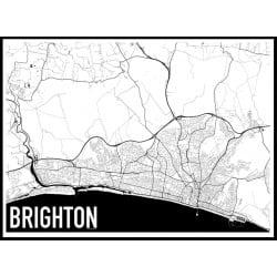 Brighton Karta Poster