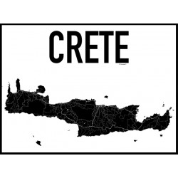 Kreta Karta Poster
