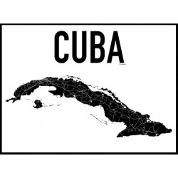 Cuba Karta Poster