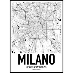 Milano Karta Poster