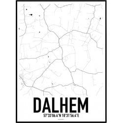 Dalhem Karta Poster