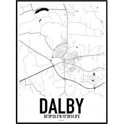 Dalby Karta Poster