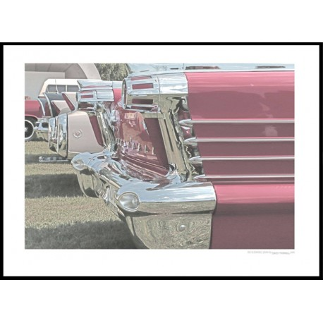 Red Oldsmobile Poster