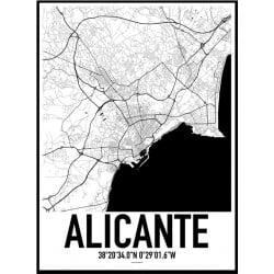 Alicante Karta Poster