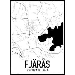 Fjärås Karta Poster