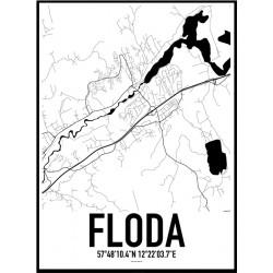 Floda Karta Poster