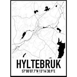 Hyltebruk Karta Poster