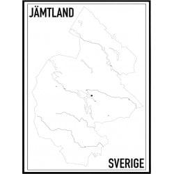 Jämtland Karta Poster