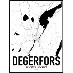 Degerfors Karta Poster