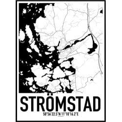 Strömstad Karta Poster