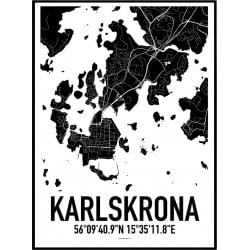 Karta Karlskrona Poster