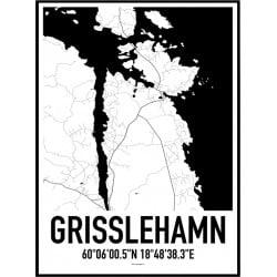 Grisslehamn Karta Poster