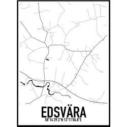 Edsvära Karta Poster