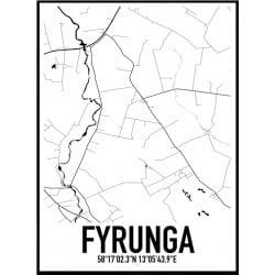 Fyrunga Karta Poster