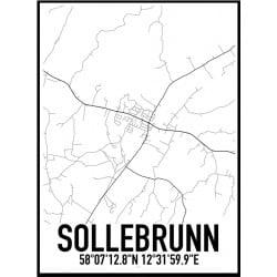 Sollebrunn Karta Poster