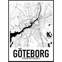 Göteborg 2 Karta Poster
