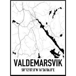 Valdemarsvik Karta