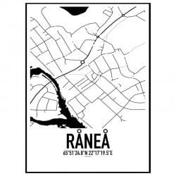 Råneå Karta Poster