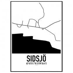 Sidsjö Karta Poster