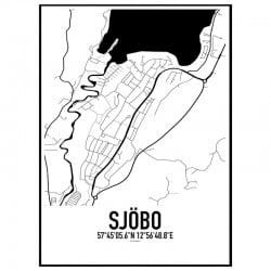 Sjöbo Karta Poster